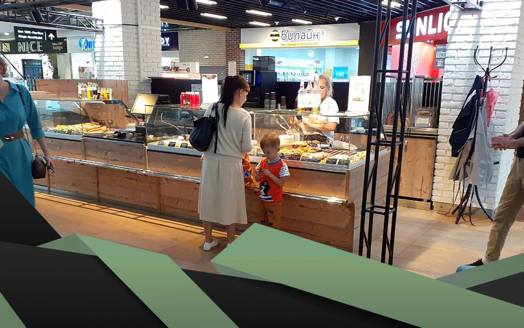 Coffee – bakery shop for Russian shopping mall